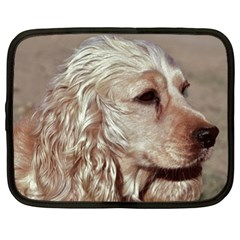 Golden Cocker spaniel Netbook Case (XL)