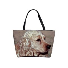 Golden Cocker spaniel Shoulder Handbags