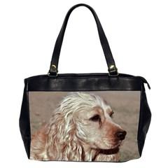 Golden Cocker spaniel Office Handbags (2 Sides)