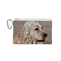 Golden Cocker spaniel Canvas Cosmetic Bag (S)