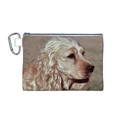 Golden Cocker spaniel Canvas Cosmetic Bag (M)