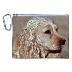 Golden Cocker spaniel Canvas Cosmetic Bag (XXL)