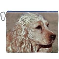 Golden Cocker spaniel Canvas Cosmetic Bag (XXXL)