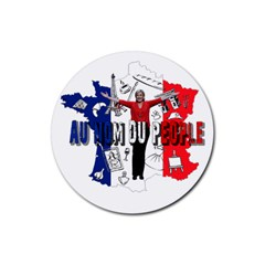 Marine Le Pen Rubber Round Coaster (4 pack)