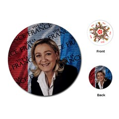 Marine Le Pen Playing Cards (Round)