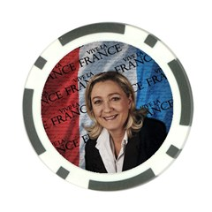 Marine Le Pen Poker Chip Card Guard