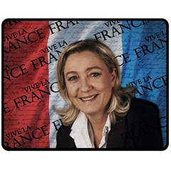 Marine Le Pen Fleece Blanket (Medium)