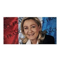 Marine Le Pen Satin Wrap