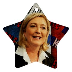 Marine Le Pen Star Ornament (Two Sides)