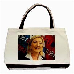 Marine Le Pen Basic Tote Bag (Two Sides)