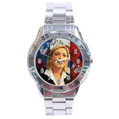 Marine Le Pen Stainless Steel Analogue Watch