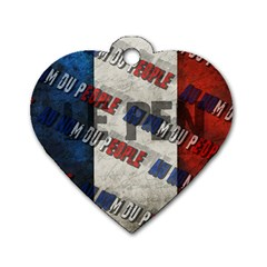 Marine Le Pen Dog Tag Heart (Two Sides)