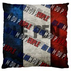Marine Le Pen Large Flano Cushion Case (two Sides)