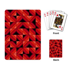 Fake Wood Pattern Playing Card