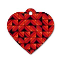 Fake Wood Pattern Dog Tag Heart (Two Sides)