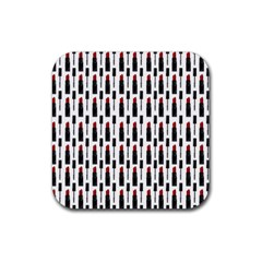 Makeup Rubber Square Coaster (4 pack)