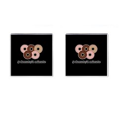 Five donuts in one minute  Cufflinks (Square)