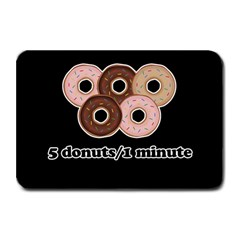 Five donuts in one minute  Plate Mats