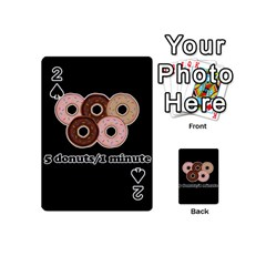 Five Donuts In One Minute  Playing Cards 54 (mini)