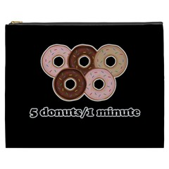 Five donuts in one minute  Cosmetic Bag (XXXL)