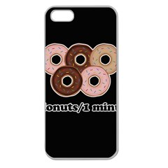Five donuts in one minute  Apple Seamless iPhone 5 Case (Clear)