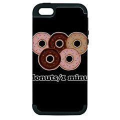 Five donuts in one minute  Apple iPhone 5 Hardshell Case (PC+Silicone)