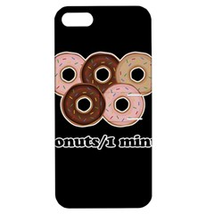 Five donuts in one minute  Apple iPhone 5 Hardshell Case with Stand