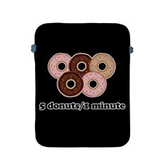 Five donuts in one minute  Apple iPad 2/3/4 Protective Soft Cases