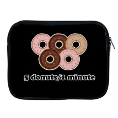 Five donuts in one minute  Apple iPad 2/3/4 Zipper Cases