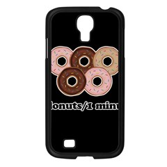 Five donuts in one minute  Samsung Galaxy S4 I9500/ I9505 Case (Black)
