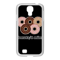 Five donuts in one minute  Samsung GALAXY S4 I9500/ I9505 Case (White)