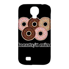 Five donuts in one minute  Samsung Galaxy S4 Classic Hardshell Case (PC+Silicone)