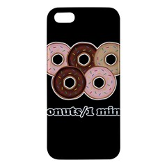 Five donuts in one minute  iPhone 5S/ SE Premium Hardshell Case