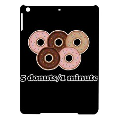 Five donuts in one minute  iPad Air Hardshell Cases