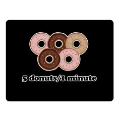 Five donuts in one minute  Double Sided Fleece Blanket (Small)