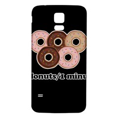 Five donuts in one minute  Samsung Galaxy S5 Back Case (White)