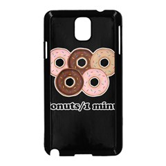 Five donuts in one minute  Samsung Galaxy Note 3 Neo Hardshell Case (Black)
