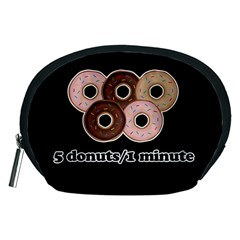 Five donuts in one minute  Accessory Pouches (Medium)