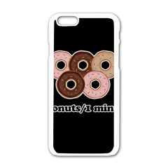Five donuts in one minute  Apple iPhone 6/6S White Enamel Case