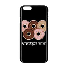 Five donuts in one minute  Apple iPhone 6/6S Black Enamel Case