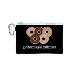 Five donuts in one minute  Canvas Cosmetic Bag (S)