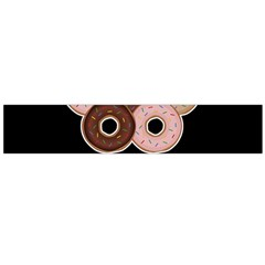 Five donuts in one minute  Flano Scarf (Large)