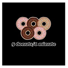 Five donuts in one minute  Large Satin Scarf (Square)