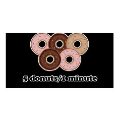 Five donuts in one minute  Satin Shawl