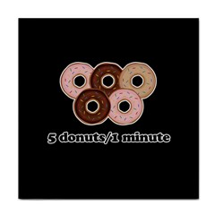 Five donuts in one minute  Tile Coasters