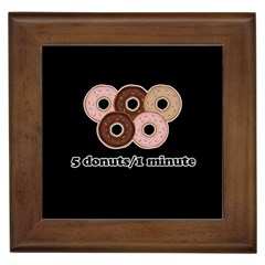 Five donuts in one minute  Framed Tiles