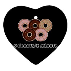 Five donuts in one minute  Ornament (Heart)