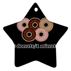 Five donuts in one minute  Ornament (Star)