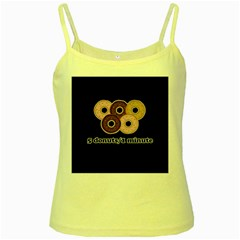 Five donuts in one minute  Yellow Spaghetti Tank