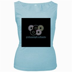 Five donuts in one minute  Women s Baby Blue Tank Top